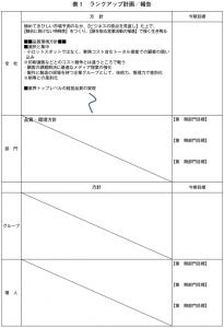 ランクアップ計画/報告