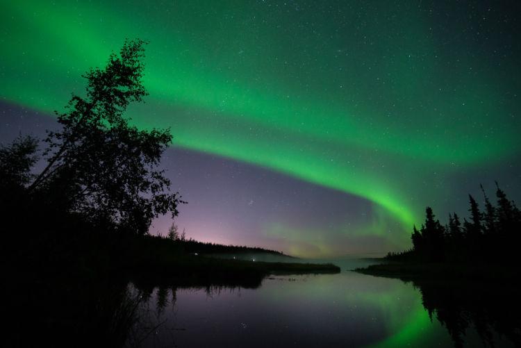 カナダ・ホワイトホースでは大自然の中でオーロラを堪能できる