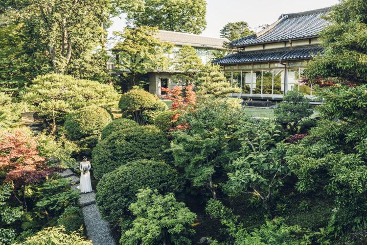 辻家庭園は秋の紅葉も冬の雪景色も美しい。春夏秋冬どの季節も人気