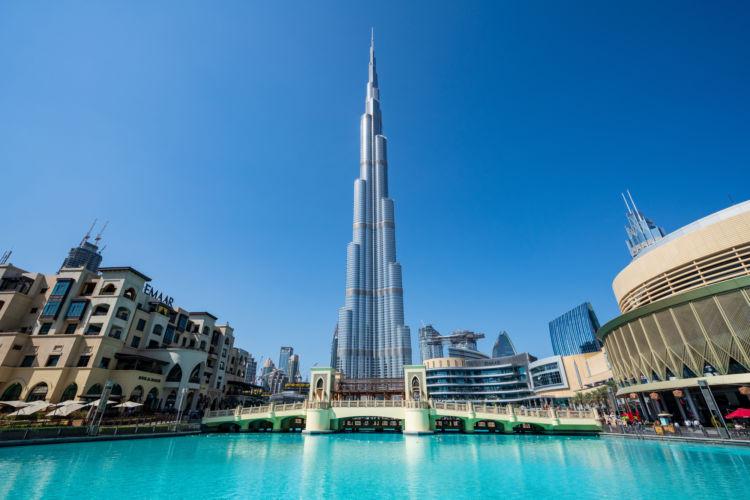 ドバイの世界一高いビル「ブルジュ・ハリファ」