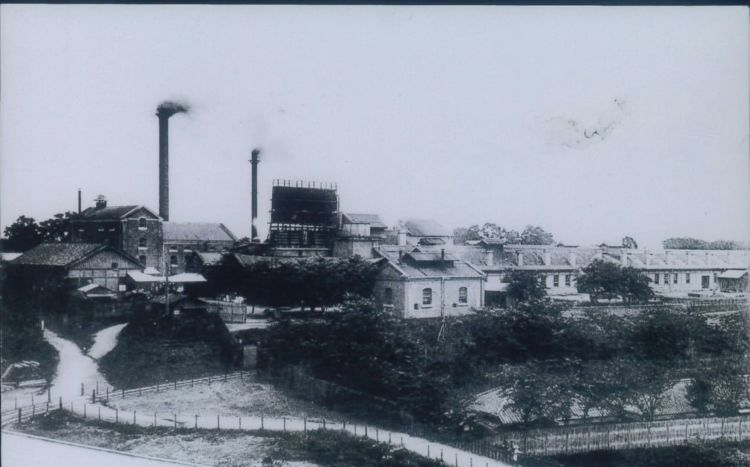 現在のサッポロビール株式会社やアサヒビール株式会社の前身となった大日本麦酒株式会社の目黒工場(渋沢史料館所蔵)