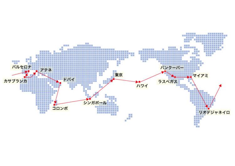 世界の有名リゾートを巡るモデルルート