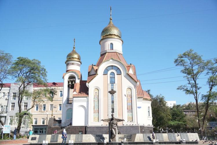 噴水通り近くにあるイゴリチェルニゴフスカバ教会