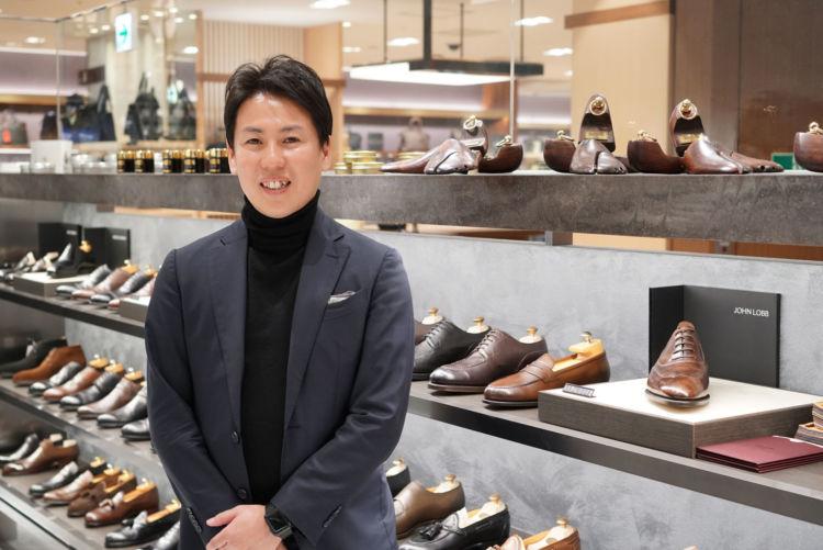 お話を聞いた三越伊勢丹紳士靴バイヤーの田畑 智康さん