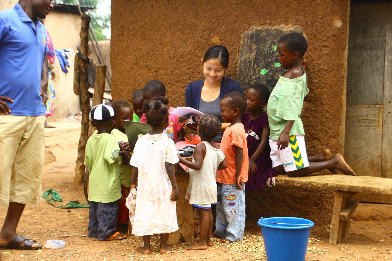 ガーナの村を支援する元外交官。子供達が夢を見つけ、追い続けられる未来をつくりたい