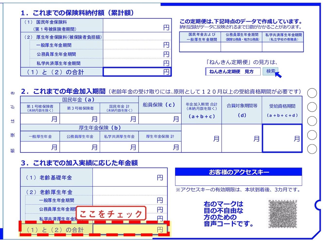 ※日本年金機構 「令和2年度「ねんきん定期便」(50歳未満)ウラ」より編集部にて加工