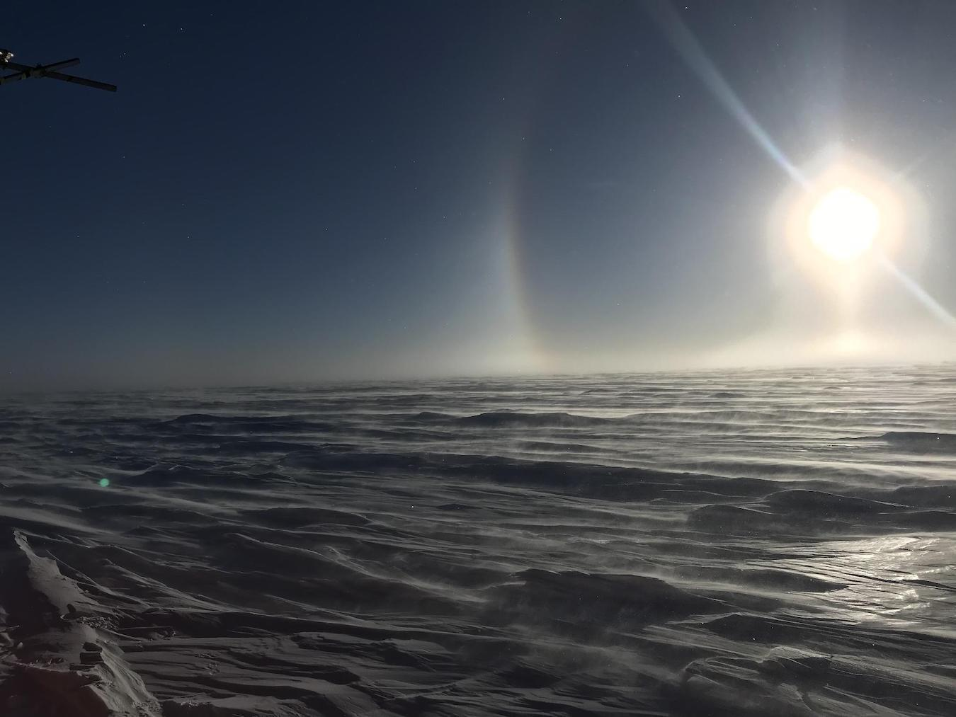 土地の98パーセントが氷で覆われている南極