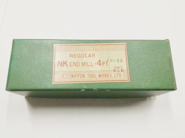 日立ツール ハイス4枚刃エンドミル 4NKR 48X32_画像1