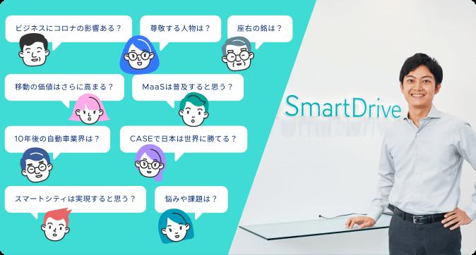 Mobility Transformation Meet Up Vol.1スマートドライブ代表 北川 烈へ 聞きたいことありますか?