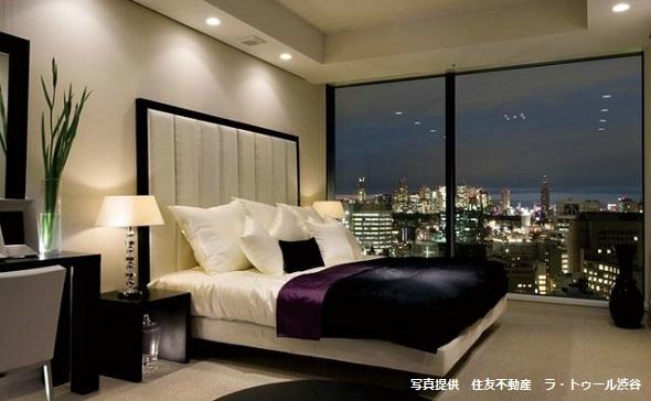 ラ・トゥール渋谷のベッドルームコーディネート