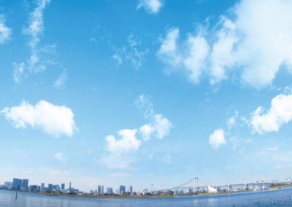 レインボーブリッジと東京湾を一望