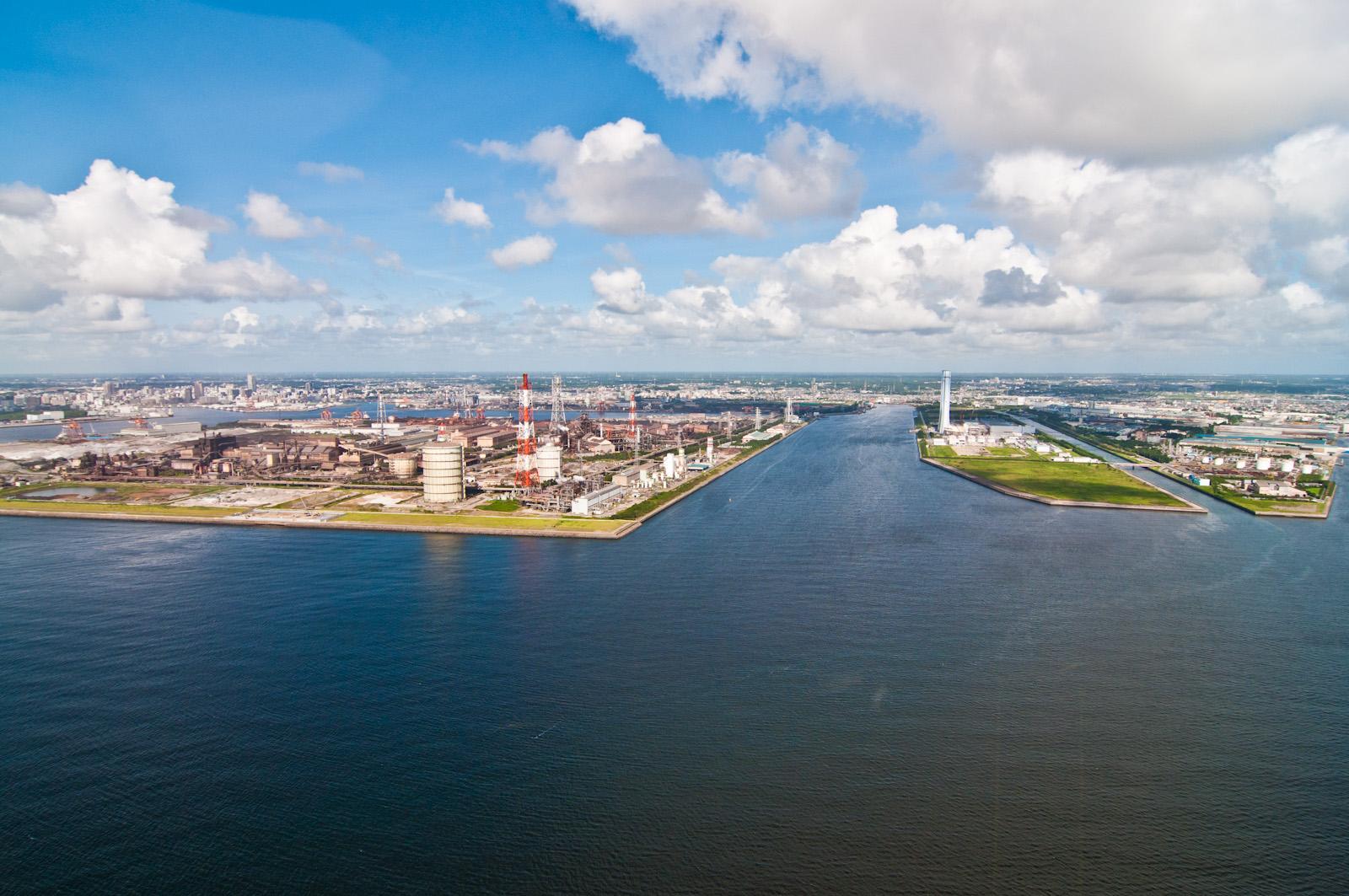 発電所の風景