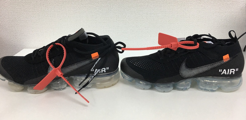 OFF WHITE × Nike Air Vapormax の偽物の見分け方
