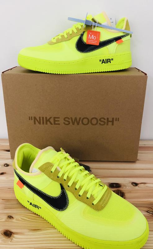 Off White X Nike Air Force 1 Volt オフホワイト ナイキ エア