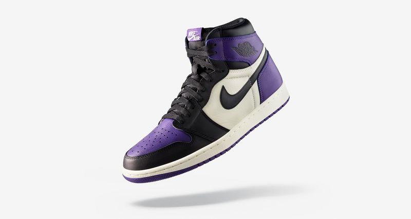 jordan 1 court purple