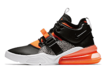 "NIKE AIR FORCE 270 ""SAFARI"" BLACK/HYPER CRIMSON-WOLF GREY-WHITE"