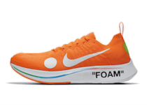 NIKE ZOOM FLY MERCURIAL FLYKNIT OFF-WHITE ORANGEの写真