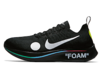 NIKE ZOOM FLY MERCURIAL FLYKNIT ×OFF-WHITE BLACK