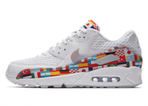 NIKE AIR MAX 90 NIC QS WHITE/MULTI-COLOR