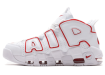 NIKE AIR MORE UPTEMPO '96 WHITE/VARSITY RED-WHITEの写真