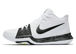 Kyrie 3 TB White Blackの写真