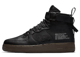 SF Air Force 1 Mid Black Dark Hazelの写真