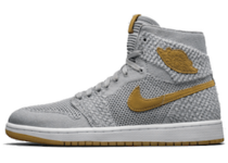 Jordan 1 Retro High Flyknit Wolf Greyの写真