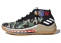 DAME 4 A BATHING APE CAMO