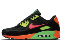 Nike Air Max 90 Neon Black Hyper Crimson Green Strike