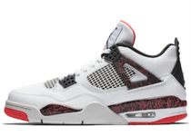 Nike Air Jordan 4 Retro White Black Bright Crimsonの写真