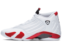 Nike Air Jordan 14 White Varsity Red Blackの写真