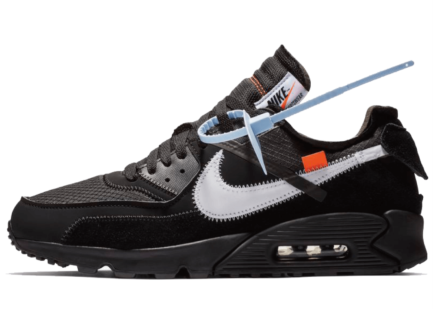 Off White × Nike Air Max 90 Blackの写真