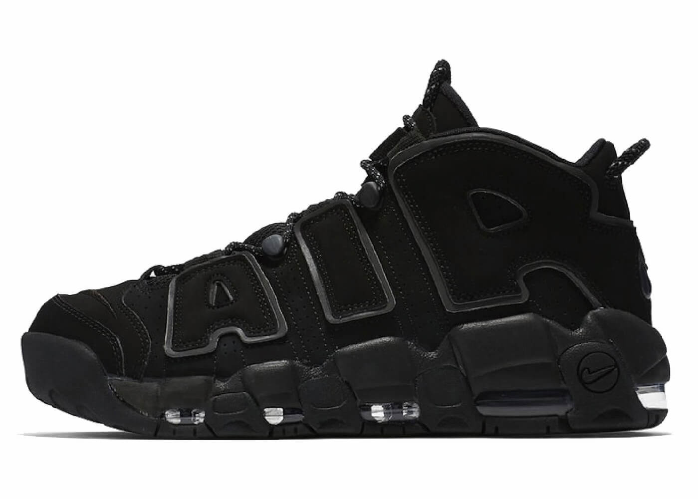 NIKE AIR MORE UPTEMPO TRIPLE BLACKの写真