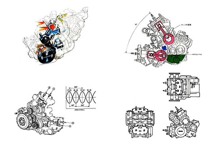YAMAHARZV500Rエンジン
