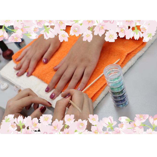 【ハンドマッサージ&ネイル体験】春色ネイルで指先美人☆