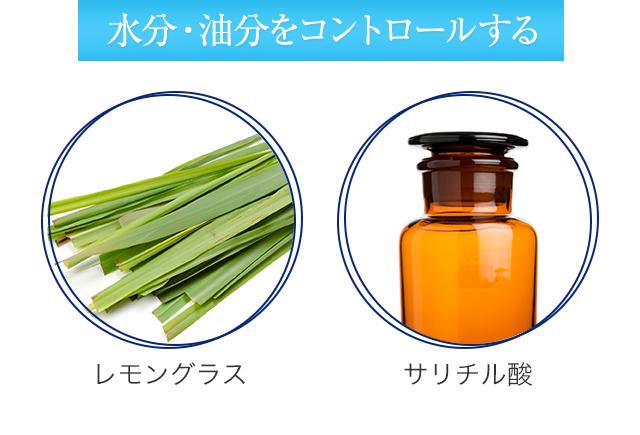 水分・油分をコントロールする レモングラス サリチル酸