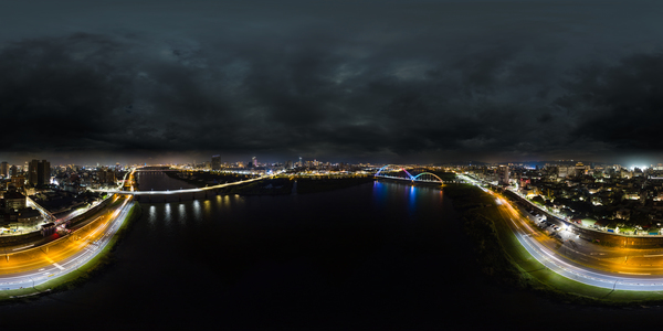 Xin yue Bridge aerial photography