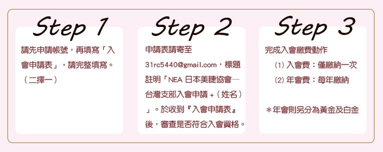 NEA美睫協會申請會員步驟