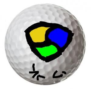 ゴルフボールに落書きφ( ̄▽ ̄;)