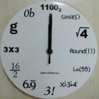 文字盤が数式の壁掛け時計の答え合わせ
