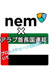 NEM×アラブ首長国連邦 ブロックチェーン化について