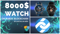 Storing $8000 watch identity on NEM public blockchain.