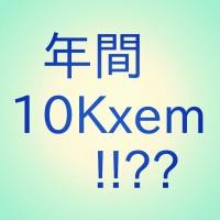 [リアリティ・レポート] 50過ぎのおっさんよ、目指せ、nemlog 年間10,000xem獲得!