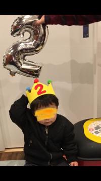 2歳のお誕生日🎉   初めて動画挿入できました。(((o(*゚▽゚*)o)))♡
