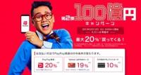 第2弾PayPay100億円キャンペーン2019年2月12日より開催
