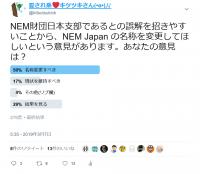 「NEM JAPAN」さんの名称についてのアンケート結果ご報告