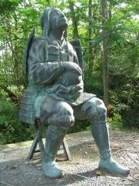木曽義仲主従の銅像(篠原古戦場址)銅像日誌No.2