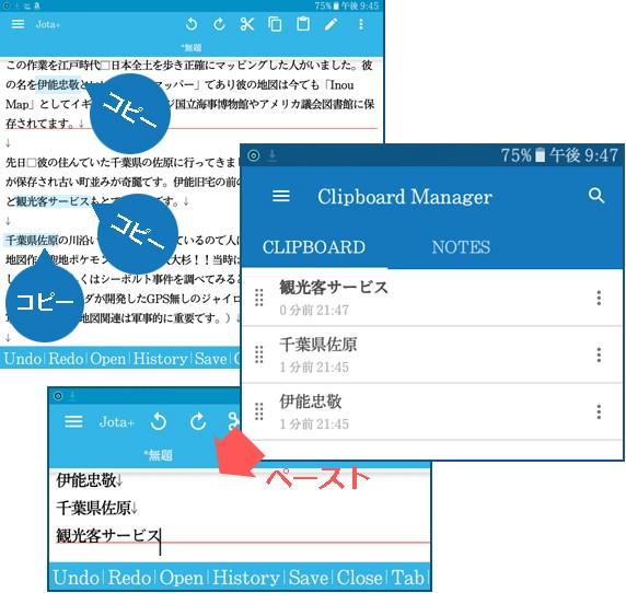Clipboard Manager紹介図