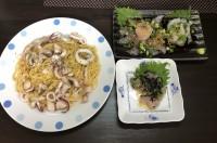 旬の白身魚とイカで絶品晩ごはんを作る