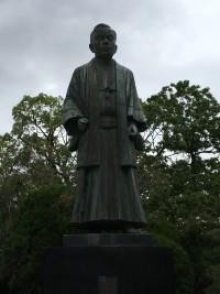 公園の銅像と自然を撮ったよ!!